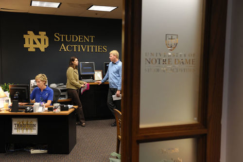 The Student Activities Office of Notre Dame
