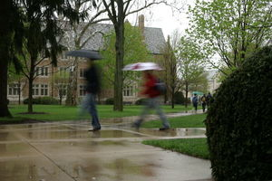 Rainy day on campus