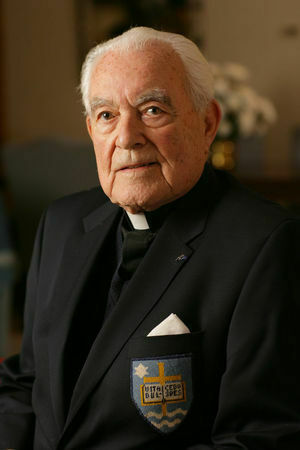 Father Theodore Hesburgh, CSC, President Emeritus of the Univ of Notre Dame