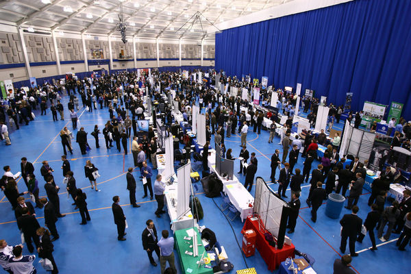 A career fair at Notre Dame
