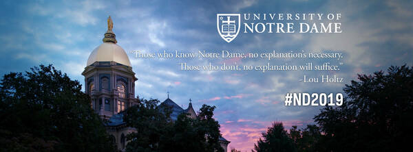 Facebook Cover Photo: Those who know Notre Dame, no explanation's necessary