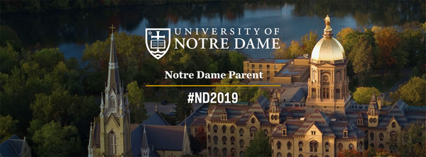 Facebook Cover Photo for parents of a student admitted into the Notre Dame Class of 2019