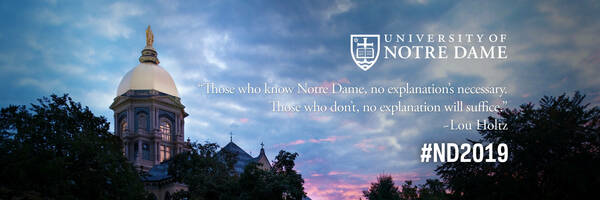 Twitter Cover Photo: Those who know Notre Dame, no explanation's necessary