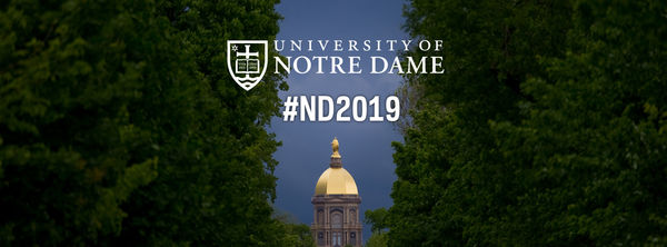 Facebook Cover Photo for the Notre Dame Class of 2019 - Dome with Deep Blue Sky