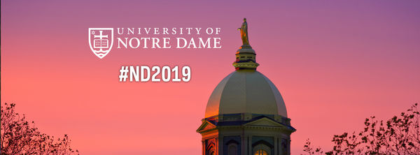 Facebook Cover Photo for the Notre Dame Class of 2019 – Photo of Dome Sunset
