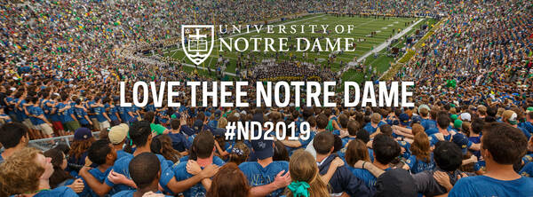 Facebook Cover Photo for the Notre Dame Class of 2019 – Love Thee Notre Dame