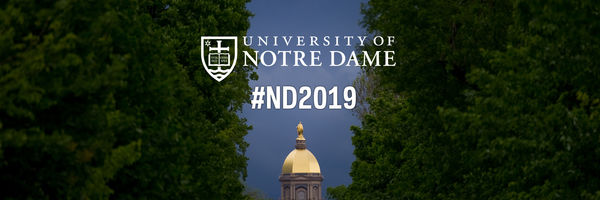 Twitter Cover Photo for the Notre Dame Class of 2019 - Dome with Deep Blue Sky