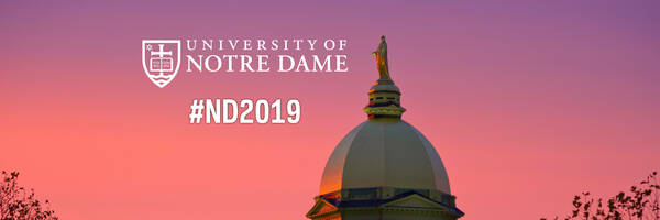 Twitter Cover Photo for the Notre Dame Class of 2019 – Dome Sunset