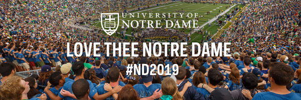 Twitter Cover Photo for the Notre Dame Class of 2019 – Love Thee Notre Dame