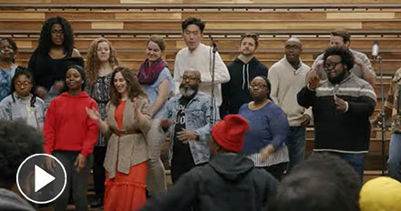 Watch the Voices of Faith Gospel Choir sing Seek Ye First
