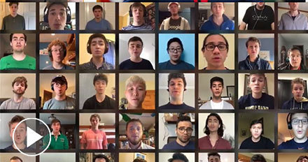 Watch the Glee Club sing Notre Dame, Our Mother